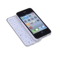Sanoxy Sliding Bluetooth Keyboard and Hardshell Case with Backlight for iPhone 5/5s - Non-Retail Packaging - White
