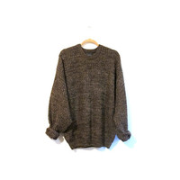 Over-sized Sweater - Brown. Tan. Boyfriend. Neo-grunge. Alt. Skater. VTG - Jumper