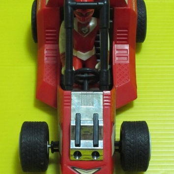 Bandai Power Rangers Maskman Red Mask With Spin Cruiser Action Figure Set