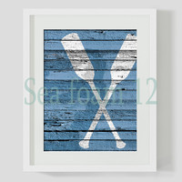 Nautical Paddle Print , Nautical wall art , Sea , Nautical Wedding ,Instant Download, Wall Decor, Digital Print , Printable Wall Art