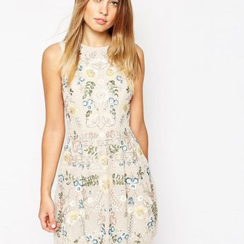 Needle & Thread China Rose Embellished Prom Dress at asos.com