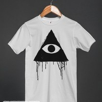 Equilateral Triangle All Seeing Eye Tee-Heather Grey Sweatshirt