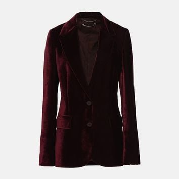 Burgundy Velvet Jacket - Stella Mccartney