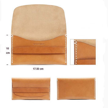 Leather wallet, hand clutch