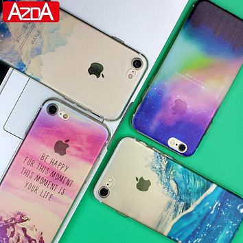 Ultra Thin Soft Silicon Fashion Transparent Back fundas coque For iPhone 5 5S SE 6 6S 7 7 Plus case phone cases Cover accessorie