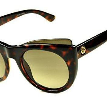 Gucci GG3781/S Sunglasses Color LSDHA Havana/Brown gradient