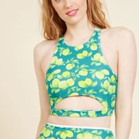 Parasail Away with Me Swimsuit Top in Lemons | Mod Retro Vintage Bathing Suits | ModCloth.com
