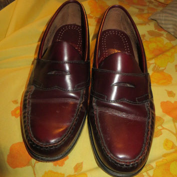 80s G h bASS Weejuns  cordovon  leather mens penny loafers sz 8 1/2