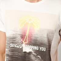 Jack & Jones T-Shirt With Neon Palm Tree