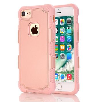 for iphone 7 case hybrid dual layer armor defender full body protective shock absorption case for iphone7