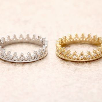 CROWN TINY HEARTS ring.   O.M.G. a crown made of tiny hearts.  In gold or rose gold.   I just can't even...  LilahV
