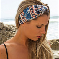 Hepburn Turban Blue