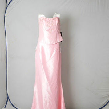 Jora Collection Pale Pink Wedding Party Prom dress