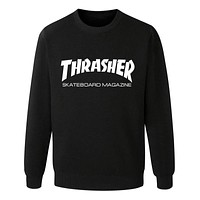 Thrasher Hip hop Sweatshirt Black