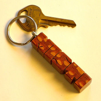 Leopardwood Name Keychain - Any Name Carved to Order