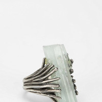 Adorn By Sarah Lewis Aquamarine Talon Ring - Urban Outfitters