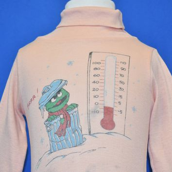 70s Oscar the Grouch Sesame Street Turtleneck t-shirt Baby 12-18 mo