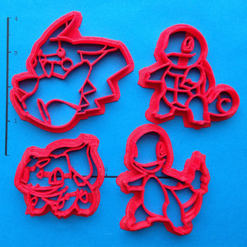 Kanto Starter Pokemon Cookie Cutter Set