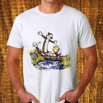 calvin and hobbes T-shirt Unisex Adults size S-2XL