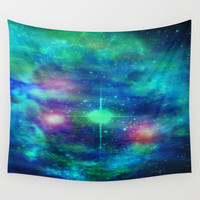 Stars And Waves Wall Tapestry by Minx267
