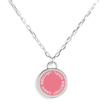 MARC JACOBS Enamel Logo Pendant Necklace | Nordstrom