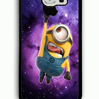 Samsung Galaxy S6 Case - Rubber (TPU) Cover with Minions despicable me Apple Rubber case Design