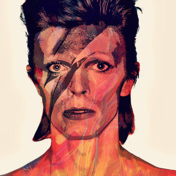 MAJOR ToM (DAViD BOWiE) - Digital Art Print - MULTIPLE SiZES AVAiLABLE