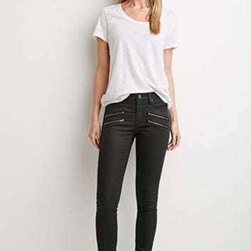 Life in Progress Zipped Skinny Jeans
