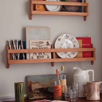 Beechwood Open Wall Racks