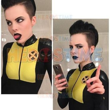 Deadpool Dead pool Taco  2 Negasonic Teenage Warhead V1 Spandex Superhero Costume Zentai Halloween Cosplay Suit Party Lycra Bodysuit AT_70_6