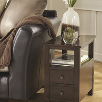 T477-7 Marion Chair Side End Table Dark Brown Free Shipping!