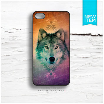 iPhone 5 Case Tribal iPhone 5s Case Wolf, iPhone 4 Case, iPhone 4s Case, Geometric iPhone Case, Purple Arrows iPhone Cover T136