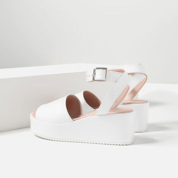 WEDGES WITH ANKLE STRAP - SHOES-TRF | ZARA United States