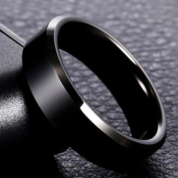 316L High Quality Men Black Titanium Stainless Ring Lover Couple Rings for Women Men Silver Vintage Cool Rings Drop Shipping