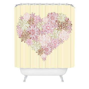 Sabine Reinhart Heart One Shower Curtain