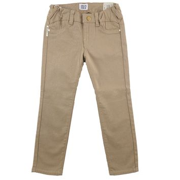 Armani Junior Girls Beige Jeggings