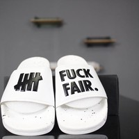 "Undefeated ""White"" Summer GD slide sandals"