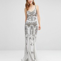 Maya Delicate Embellished Maxi Dress with Fishtail at asos.com
