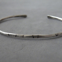 Sterling Silver Stacking Cuffs Hand Hammered Textured Open Bangles Silver Stacking Bangles by SteamyLab