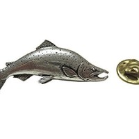 Sockeye Salmon Fish Lapel Pin [Jewelry]
