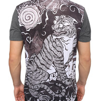 LE3NO Mens T Shirt with Printed Pocket and Graphics on Back