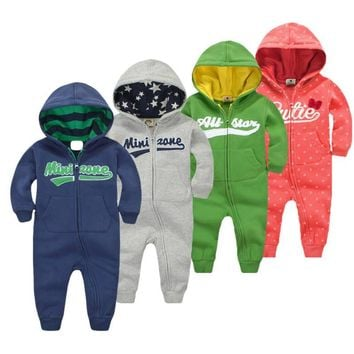 Long Sleeve hoodies Infant Boys Girls jumpsuit baby clothes boy