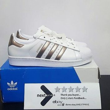 Adidas Superstar Originals Bronz White-Rose Gold-Whit BB1428 Scarpe Shoes Donna