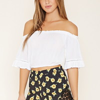 Crocheted Sunflower Shorts