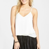 Junior Women's Lush Crochet Hem Swing Tank,