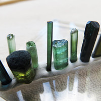 Sale Bi Color Blue Green Tourmaline Crystal Lot Wire Wrap Supplies For Jewelry Terminated Crystals