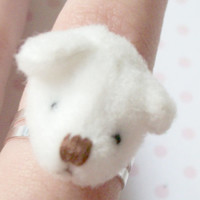 Kawaii Cute Soft Teddy Bear Head Ring