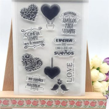 Heart and Balloon Styles Transparent Clear Stamp DIY Silicone Seals Scrapbooking/Card Making/Photo Album Decoration Accessories