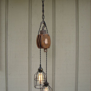 Industrial Pulley Pendant Light & Best Pulley Pendant Light Products on Wanelo