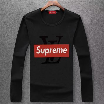 Louis Vuitton X Supreme Fashion Casual Top Sweater Pullover